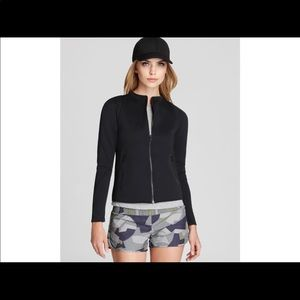 Theory 38 scuba zip up athletic jacket small black